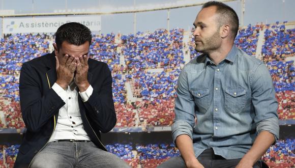 El emotivo discurso de Iniesta que hizo llorar a Xavi Hernández