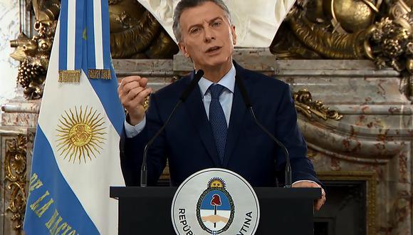 La conversación de Mauricio Macri con el presidente estadounidense se da en medio de la reunión que sostendrán funcionarios argentinos con el Fondo Monetario Internacional. (Foto: AFP)