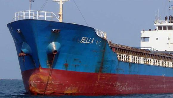 Esta imagen publicada por el Departamento de Justicia de Estados Unidos muestra al petrolero Bella, que fue incautado en agosto cuando transportaba combustible iraní hacia Venezuela. (Foto referencial / AFP).