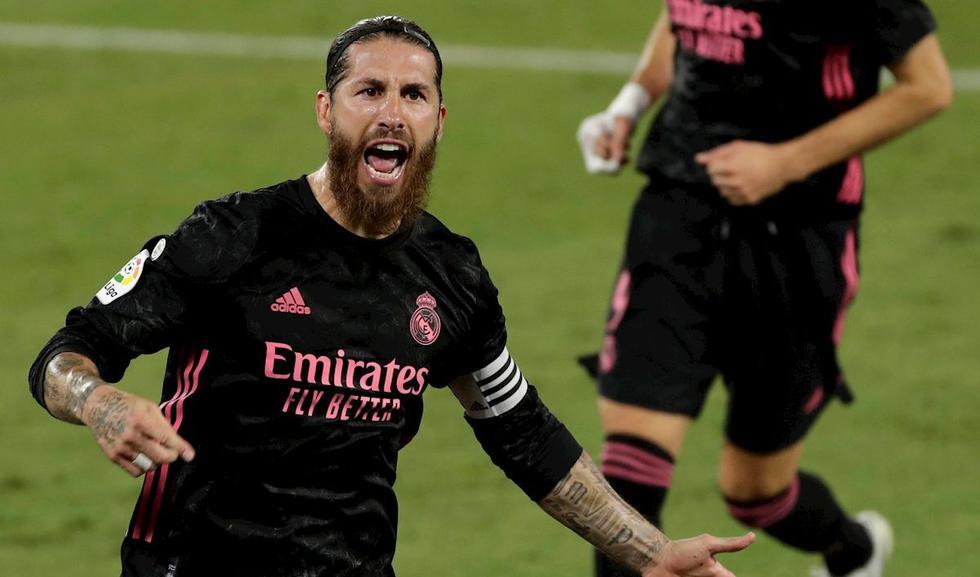 Real Madrid venció 3-2 de visita al Betis por LaLiga Santander. Sergio Ramos marcó el gol del triunfo de penal. (Foto: EFE)