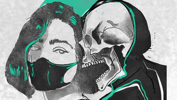 Ilustración de Alejandro López, uno de los peruanos que participa en Distancia; grupo que crea arte en relación a la pandemia del coronavirus.