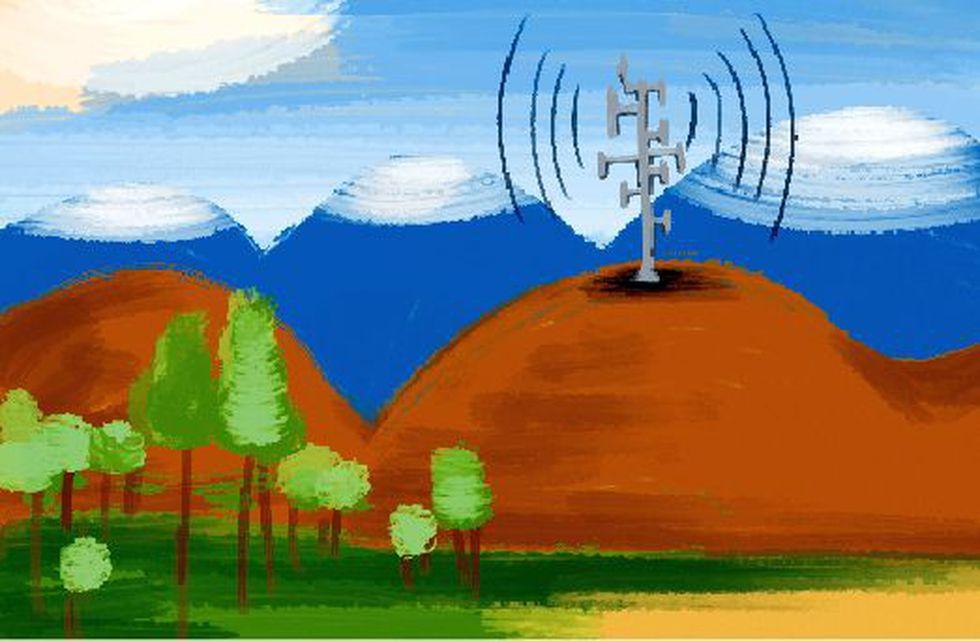 Existen todavía más de 44 mil poblados en los que no hay señal móvil. la cobertura 4G llega hoy al 20% de poblados.(ilustración: Giovanni Tazzo, El Comercio).