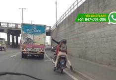 Imprudentes: tres en moto se dan el lujo de tomarse selfies