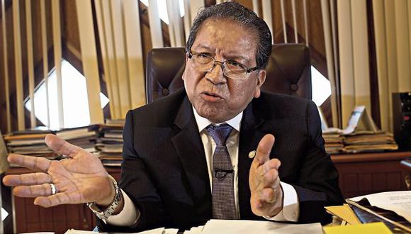 Pablo Sánchez Velarde ha ocupado el cargo de fiscal de la Nación en el período 2015-2018. (Foto: Juan Ponce/ El Comercio)
