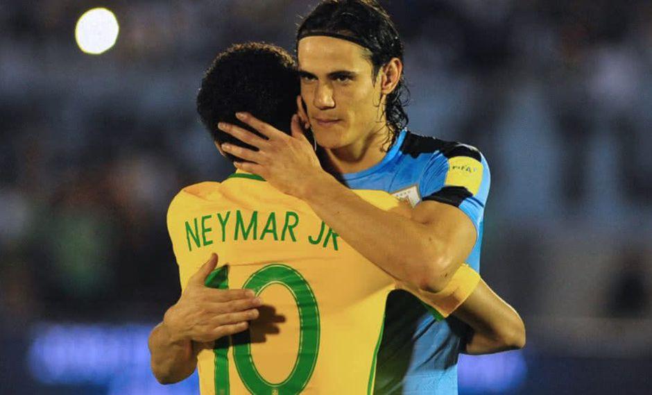 El goleador de Uruguay afirmó que mantiene una excelente relación amistosa con el '10' del Scratch y que todos los rumores de distanciamientos son rumores instaurados por la prensa mundial. (Foto: AP)