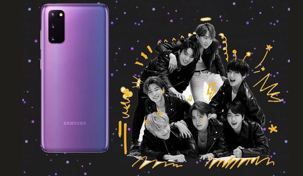 Samsung lanzará un nuevo Galaxy S20 + inspirado en la banda surcoreana BTS. (Foto: Samsung)