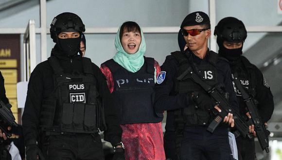 La vietnamita Doan Thi Huong, única detenida por el asesinato del hermano de Kim Jong-un, se declaró culpable después de que la fiscalía de Malasia cambiara los cargos que se le imputan. (AFP)