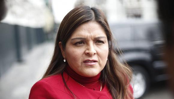Karina Beteta dijo que no están recibiendo a congresistas en las oficinas de coordinación parlamentaria. (Foto: GEC)