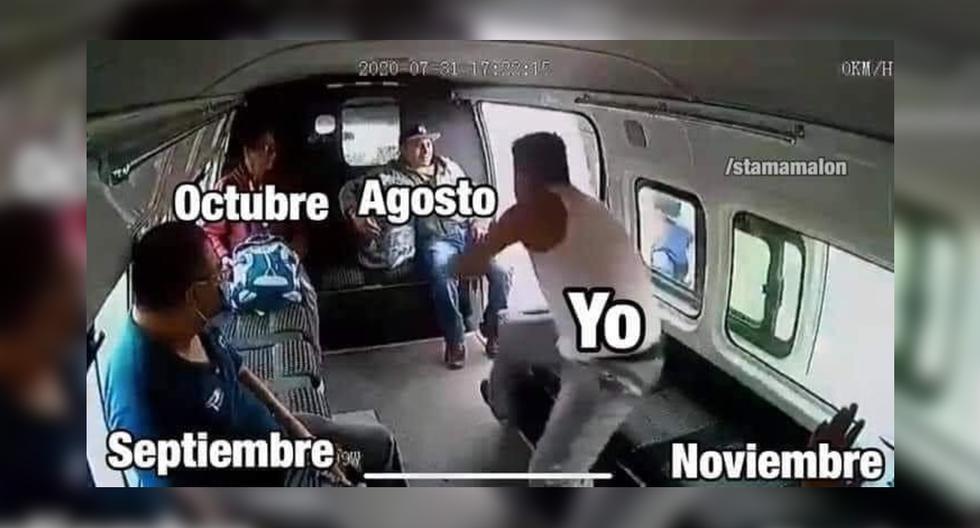 FOTO 1 DE 10 | El video viral de la golpiza propinada a un ladrón por los pasajeros de una combi que pretendió asaltar desató una ola de memes. | Crédito: SomosJk / Facebook. (Desliza a la izquierda para ver más fotos)
