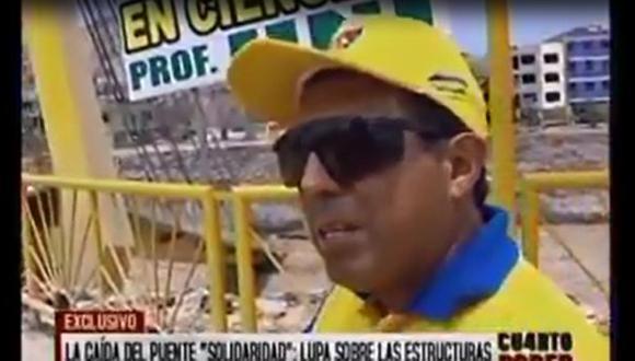"""Emape: Puente Solidaridad """"no se ha caído, se ha desplomado"""""""
