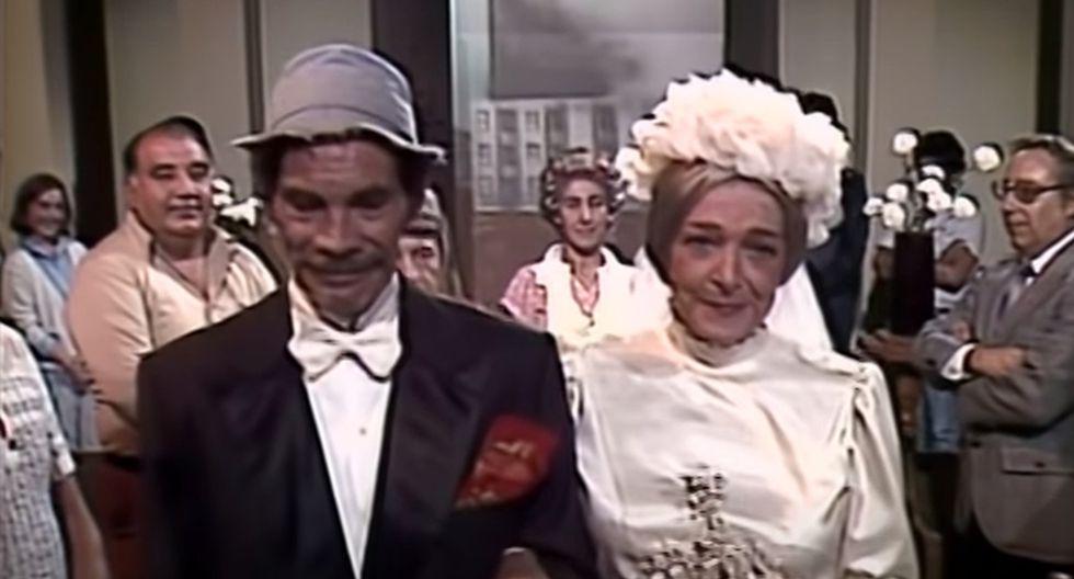 La boda de 'Don Ramón' y la 'Bruja del 71' causa furor en redes sociales. (YouTube: El Chavo del 8)