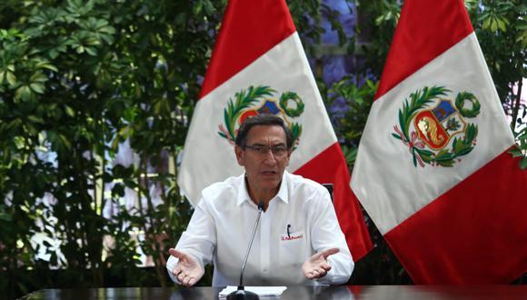 El presidente Martín Vizcarra dio nuevos alcances sobre la expansión del coronavirus mediante una conferencia de prensa en Palacio de Gobierno (Foto: GEC)