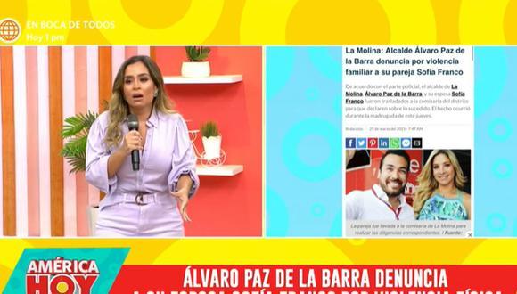 Ethel Pozo se pronunció sobre lo sucedido con Sofía Franco y Álvaro Paz de la Barra. (Foto: Captura de video)
