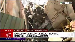 Barrios Altos: explosión de balón de helio en almacén dejó varias casas afectadas