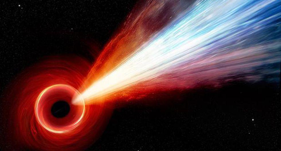 Representación artística dede M87, el agujero negro supermasivo del centro de la galaxia M87. (NASA/CXC/M.Weiss)