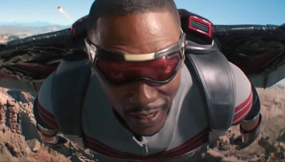 """""""Falcon y el Soldado del Invierno"""". En la foto, Falcon (Anthony Mackie), uno de los protagonistas de la serie. (Foto: Marvel/ Disney+)"""