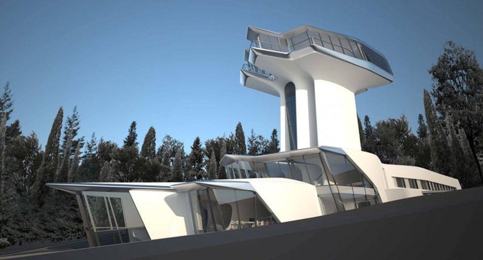 Naomi Campbell. La bella modelo posee esta residencia de aspecto futurístico en Moscú. El diseño fue realizado por el estudio de arquitectos de Zaha Hadid. (Foto: Zaha Hadid Architects)