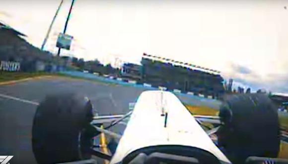 Uno de los videos muestra cómo el italiano Giancarlo Fisichella se salvó de las llamas de un vehículo delante suyo durante la carrera del 2006. (Youtube)