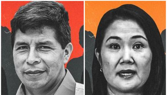 Castillo y Fujimori disputan la segunda vuelta electoral, que se realizará en junio próximo. (Imagen: El Comercio)