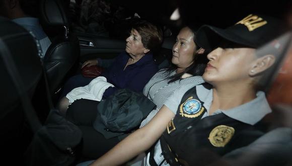 Keiko Fujimori fue detenida de forma preliminar la mañana del miércoles 10 de octubre. (Foto: GEC)