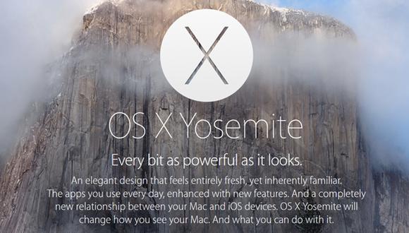 OS X Yosemite: el sistema operativo para Mac que integra iOS 8