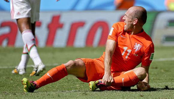 """Robben y una confusa declaración: """"Quiero disculparme. Me tiré"""""""