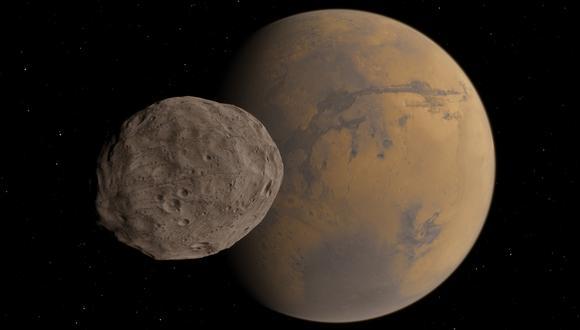 La nave abandonará el sistema lunar de Marte y traerá la muestra a la Tierra, completando el primer viaje de ida y vuelta al sistema lunar del planeta rojo. (Imagen: Shutterstock)