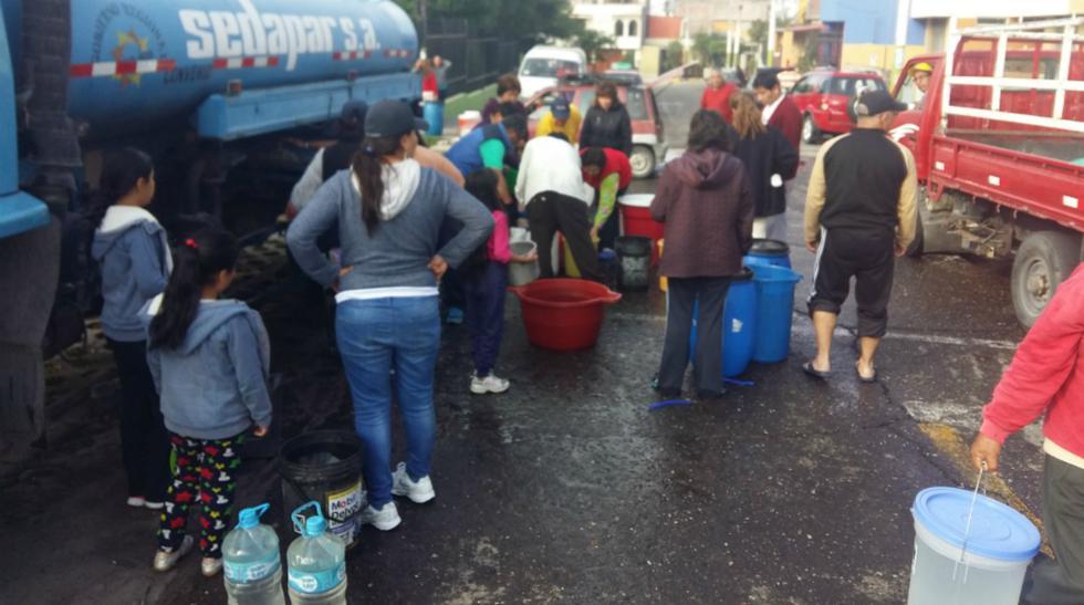 Corte de agua en Arequipa se prolongará hasta el jueves - 4