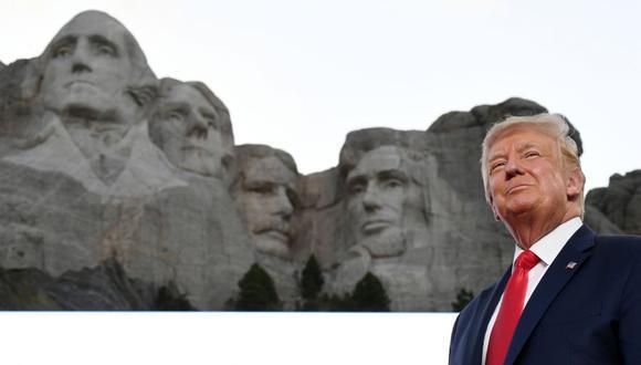 El presidente de los Estados Unidos, Donald Trump, en el monte Rushmore, en Keystone, Dakota del Sur, el 3 de julio de 2020 (Foto: SAUL LOEB / AFP).