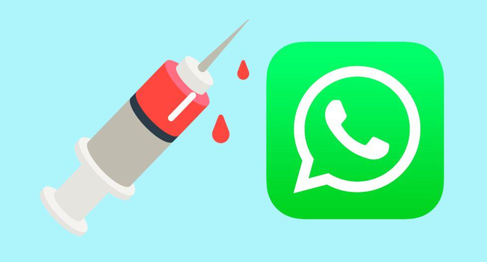 ¿Sabes qué es realmente el emoji de WhatsApp de una jeringa con sangre? Su explicación es de terror. (Foto: Emojipedia)