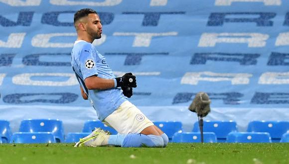 Mahrez es una de las cartas de gol del Manchester City (Foto: AFP)