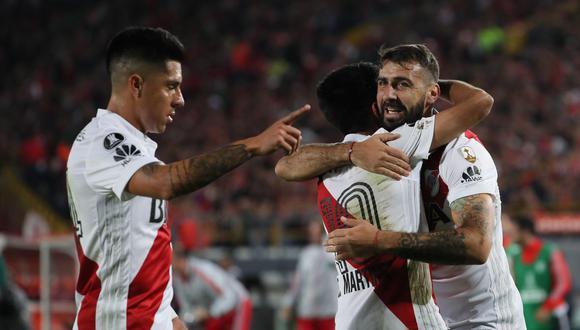Santa Fe quedó al borde de la eliminación, luego de caer en casa ante River Plate, por el Grupo 4 del campeonato. Lucas Pratto anotó el único gol del partido. (Foto: EFE)