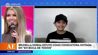 Brunella Horna recibe inesperada sorpresa de su hermano menor