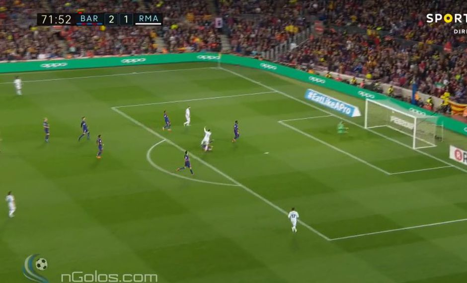 Gareth Bale marcó un golazo en el Barcelona vs. Real Madrid. (Foto: captura)