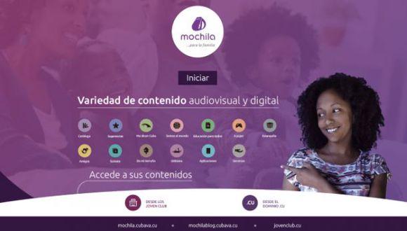 """""""La Mochila"""" fue lanzada el pasado 27 de diciembre. (Foto: """"mochila.cubava.cu"""")"""