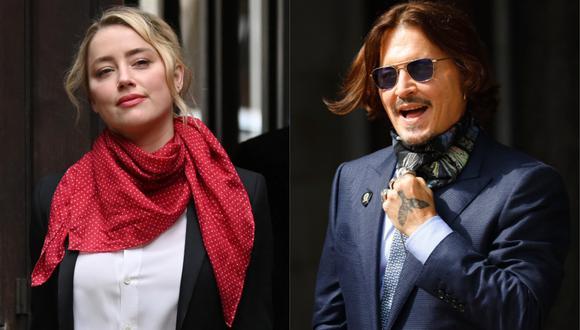 Amber Heard asegura que amó a Johnny Depp y siempre creyó que olvidaría sus adicciones (Foto: AFP/Daniel Leal-Olivas y Tolga Akmen)