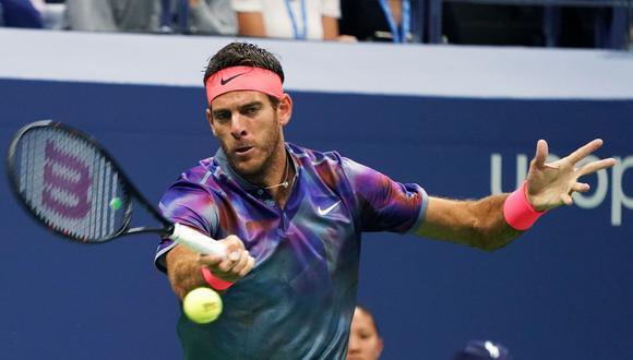 Juan Martín del Potro demostró toda la potencia de su golpe de derecha que casi tumba a Roger Federer. (Foto: AFP)