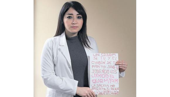 Rosa Canales recibió una amenaza tras denunciar a docentes. (Foto: Juan Ponce / El Comercio)