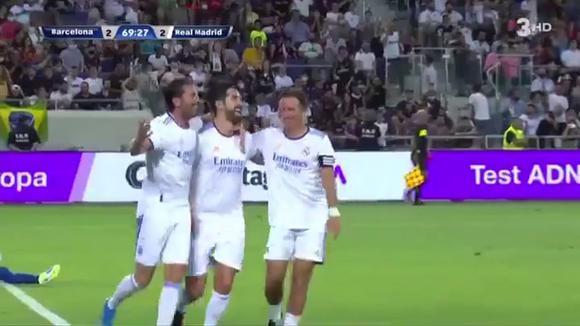 Rubén de la Red scored 3-2 for Real Madrid vs.  Barcelona.  (Video: 3HD)