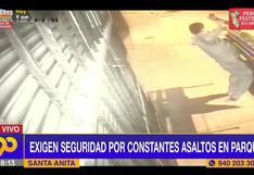 Santa Anita: delincuentes roban a vecinos y se llevan hasta las bancas del parque
