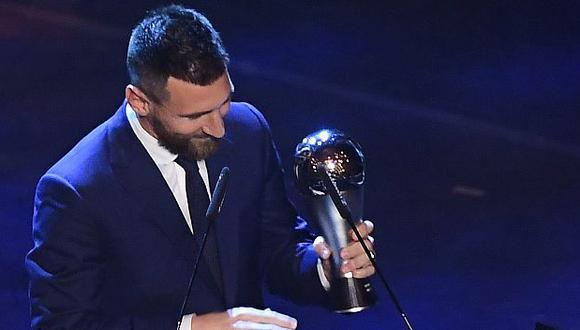 Lionel Messi ganó el The Best el 2019 tras imponerse a Van Dijk y Cristiano Ronaldo. (Foto: AFP)