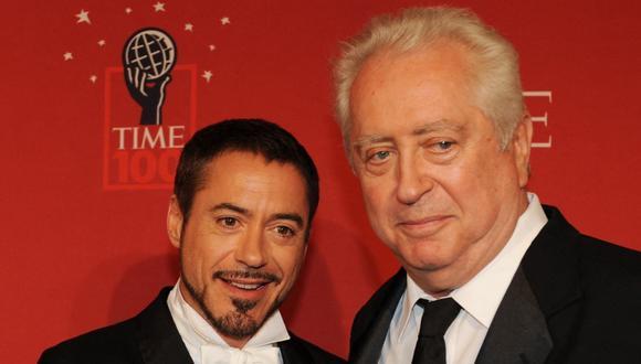 Robert Downey Jr junto a su padre, Roberto Downey Sr. (Foto: AFP/Stan Honda)