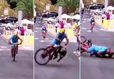 Impactante accidente en el ciclomontañismo de España   VIDEO