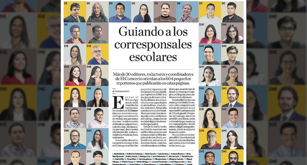 Gracias al compromiso de 36 trabajadores de este Diario, entre editores, redactores, videorreporteros, expertos en redes sociales y coordinadores se logró el Programa de Corresponsales Escolares.