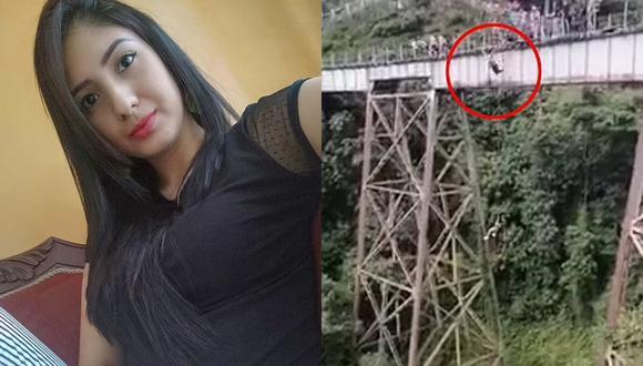 Yecenia Morales Gómez, la joven que perdió la vida por saltar en bungee jumping sin la soga de seguridad (Foto: El Tiempo)