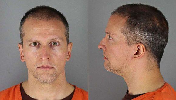 Derek Chauvin, de 44 años, fue detenido y acusado de homicidio en tercer grado. Foto: AFP / Hennepin County Jail