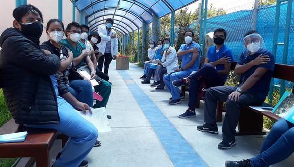Arequipa: la Geresa Arequipa exhortó al personal de salud a acudir a su establecimiento el día de la programación para ser inmunizados contra el coronavirus. (Foto: Geresa Arequipa)