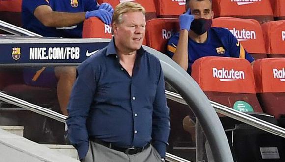 Ronald Koeman sufrió ante Getafe su primera derrota como entrenador del Barcelona. (Foto: AFP)