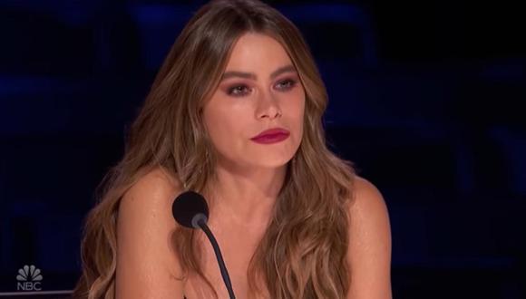 """Sofía Vergara se conmueve en """"America's Got Talent"""" al recordar el asesinato de su hermano. (Foto: Captura de NBC)"""