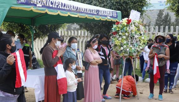 Familiares de Silvano Oblitas Cántaro Tolentino (19) llegaron hasta el distrito de Amarilis (Foto: Municipalidad de Amarilis)